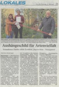 Zertifizierung-Naturgarten-Herbach-Artikel-Donaukurrier